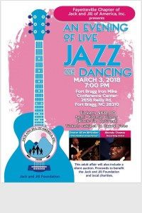 "Fayetteville Chapter of Jack and Jill of America presents: ""An Evening Of Jazz with The Dexbass Experience & Rhonda Thomas @ The Fort Bragg Iron Mike Convention Center 