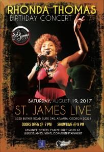 RHONDA THOMAS BIRTHDAY CONCERT in Atlanta, GA @ St. James, LIVE   Atlanta   Georgia   United States